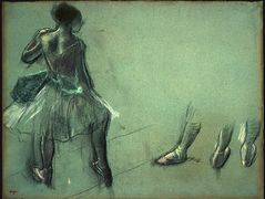 Dancer Seen from Behind and 3 Studies of Feet — Edgar Degas