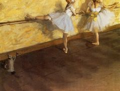 Dancers Practicing at the Barre – Edgar Degas