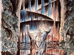 Dante and Virgil at the Gates of Hell – William Blake