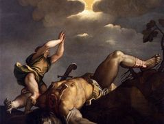 David and Goliath – Titian