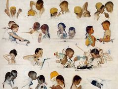 Day in the life of a little Girl — Norman Rockwell