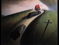 Death on the Ridge Road – Grant Wood