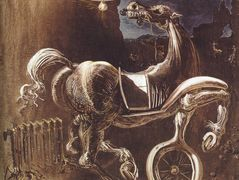 Debris of an Automobile Giving Birth to a Blind Horse Biting a Telephone – Salvador Dali
