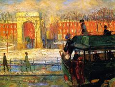 Descending from the Bus – William James Glackens