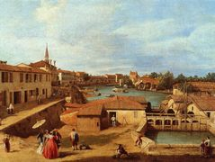 Dolo on the Brenta – Canaletto