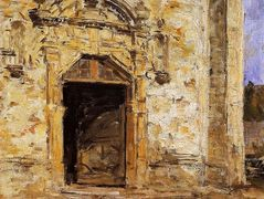 Door of the Touques Church  – Eugene Boudin
