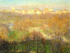 Early Spring Afternoon, Central Park – Willard Metcalf