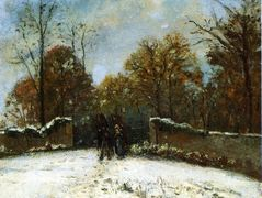 Entering the Forest of Marly (Snow Effect) – Camille Pissarro