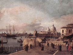 Entrance to the Grand Canal: from the West End of the Molo – Canaletto