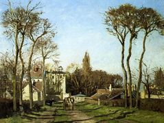 Entrance to the Village of Voisins, Yvelines – Camille Pissarro