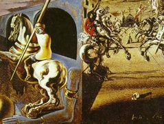 Equestrian Parade (possibly Set Design for 'Romeo and Juliet') – Salvador Dali