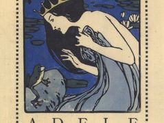 Exlibris Adele Bloch – Bookplate with princess and frog – Koloman Moser