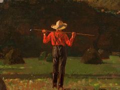 Farmer with a Pitchfork – Winslow Homer