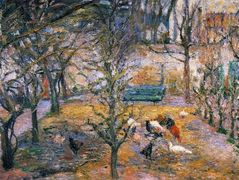Farmyard at the Maison Rouge, Pontoise – Camille Pissarro