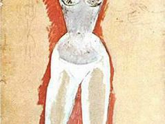 Female nude with her arms raised – Pablo Picasso