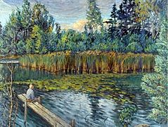 Fisherman – Nikolay Bogdanov-Belsky