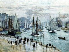 Fishing Boats Leaving the Harbor, Le Havre — Claude Monet