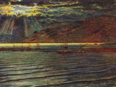 Fishingboats by Moonlight – William Holman Hunt