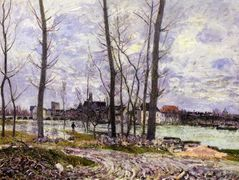 Flood at Moret sur Loing – Alfred Sisley