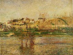 Flood in Pontoise – Camille Pissarro