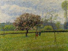Flowering Apple Trees at Eragny – Camille Pissarro