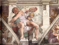 Frescoes above the altwall — Michelangelo
