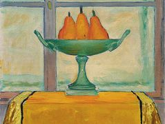 Fruit bowl with three red and yellow pears – Koloman Moser
