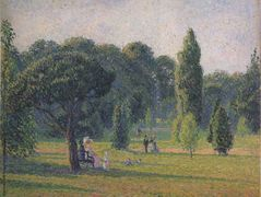 Gardens At Kew, Sunset – Camille Pissarro