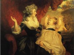 Georgiana, Duchess of Devonshire with her Infant Daughter Lady Georgiana Cavendish – Joshua Reynolds