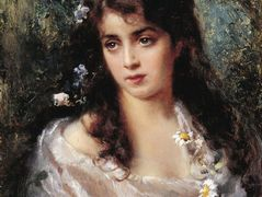 Girl dressed as Flora – Konstantin Makovsky