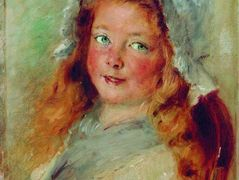 Girl in Bonnet – Konstantin Makovsky
