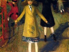 Girl Roller-Skating, Washington Square – William James Glackens