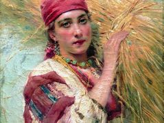 Girl with a sheaf – Konstantin Makovsky