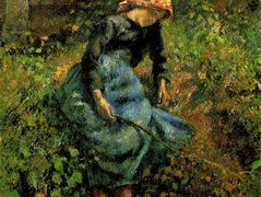 Girl with a Stick – Camille Pissarro