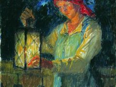 Girl with Latern – Nikolay Bogdanov-Belsky