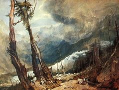 Glacier and Source of the Arveron, Going Up to the Mer de Glace — William Turner