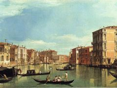 Grand Canal Between the Palazzo Bembo and the Palazzo Vendramin – Canaletto