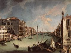 Grand Canal, Looking East from the Campo San Vio – Canaletto