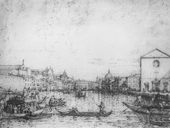 Grand Canal: Looking North East from Santa Croce to San Geremia – Canaletto