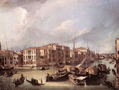 Grand Canal: Looking North East toward the Rialto Bridge – Canaletto