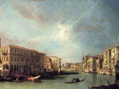 Grand Canal Looking North from near the Rialto Bridge – Canaletto