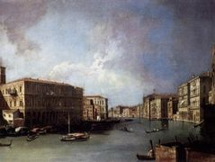 Grand Canal: Looking North from Nethe Rialto Bridge – Canaletto