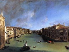 Grand Canal Looking Northeast from the Palazzo Balbi to the Rialto Bridge – Canaletto