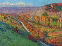 Green Valley with Stream – Henri Martin