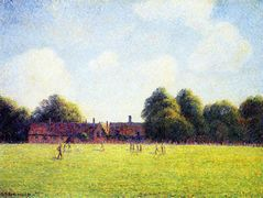 Hampton Court Green, London – Camille Pissarro