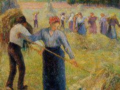 Haymaking at Eragny – Camille Pissarro