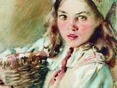 Head of the Girl in a Kerchief – Konstantin Makovsky