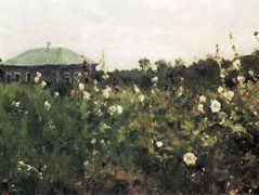 Hollyhocks in the Saratov region  – Konstantin Korovin