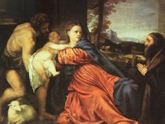 Holy Family and Donor — Titian