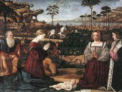 Holy Family with Two Donors – Vittore Carpaccio